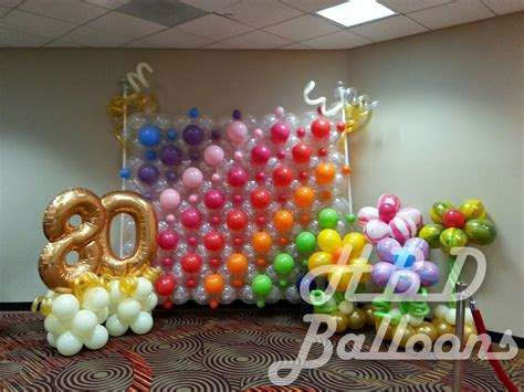 Backdrop Design For 80th Birthday   backdrop with 80th birthday hbd balloons