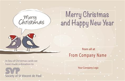 donation as a christmas gift birds corporate ecards st vincent de paul