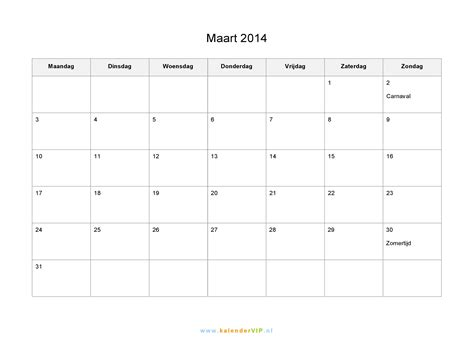 kalender maart  met weeknummers en feestdagen  excel