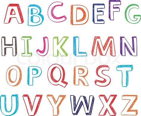 alphabet letters vector illustration design vector colourbox
