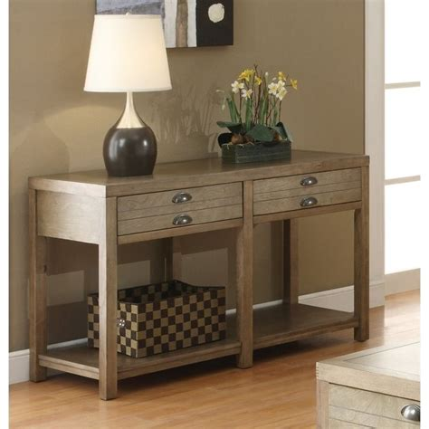 coaster sofa table coaster sofa table with two drawers in light oak 701959