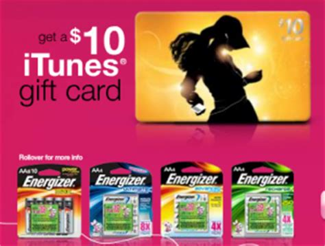 10 Dollar Itunes Gift Card Walgreens - sam s club energizer batteries purchase free 10 itunes gift cards