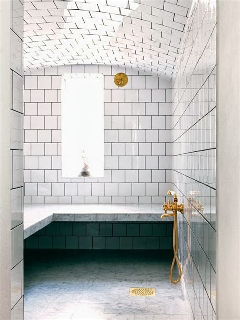 White Bathroom Fixtures by White Bathrooms With Brass Fixture
