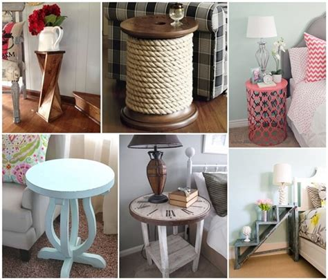 25 diy side table ideas with lots of tutorials 2017 25 diy side table ideas you will admire