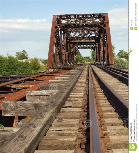 rusty train rusty old train bridge stock photo image of bridge