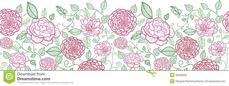 flower pattern line vector floral line art horizontal seamless pattern stock vector