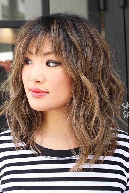 shoulder length haircuts with bangs 21 medium length layered haircuts with bangs hairstyles