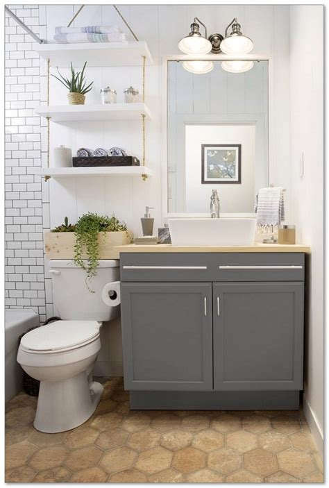 99 small master bathroom makeover ideas on a budget 74