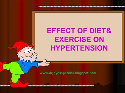 8 Negative Effects Of Exercise by Effect Of Diet And Exercise On Hypertension Authorstream