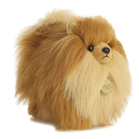 pomeranian stuffed animal realistic stuffed pomeranian 9 inch plush by