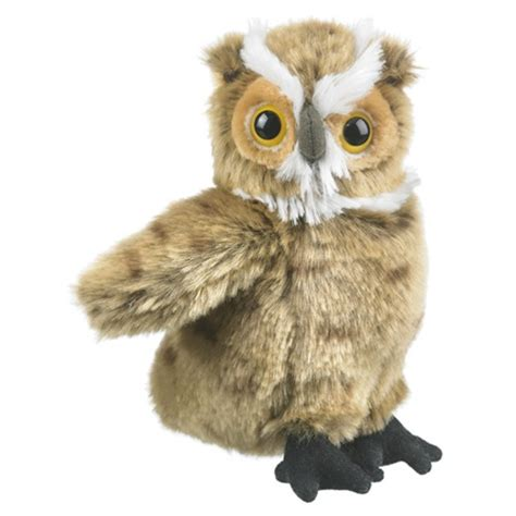 owl stuffed animal stuffed great horned owl conservation critter by wildlife