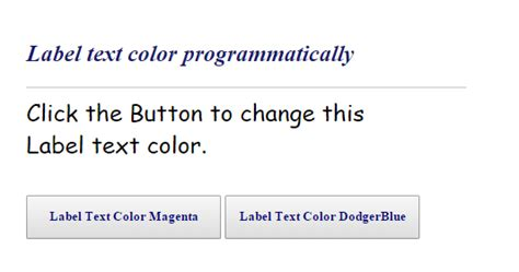html format label text asp net how to change label text color programmatically
