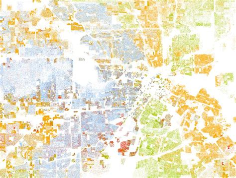 houston map by race houston racial dot map