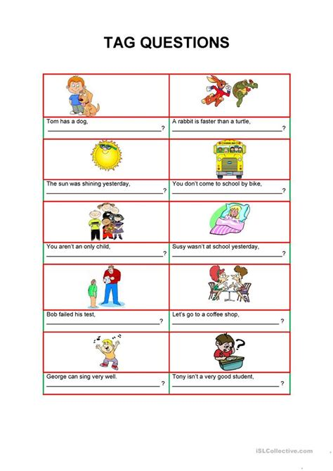 printable worksheets on question tags question tags worksheet free esl printable worksheets