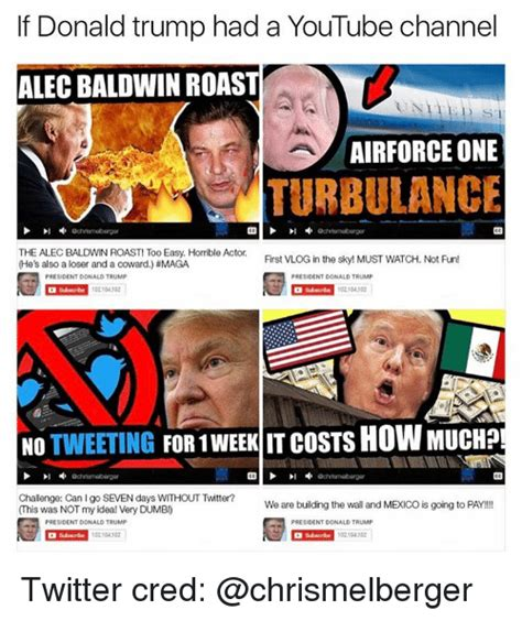 donald trump youtube channel if donald trump had a youtube channel alec baldwin roast