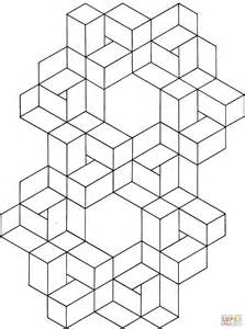 illusion coloring pages to print images
