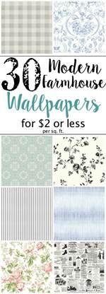 Best Powder Room Wallpaper - the best modern farmhouse wallpaper designs on a budget bless er house