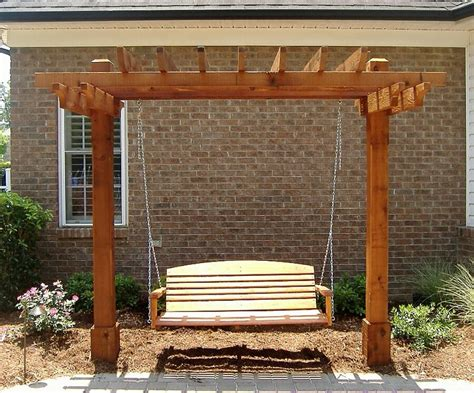 pergola swing you thought of adding swing to your pergola
