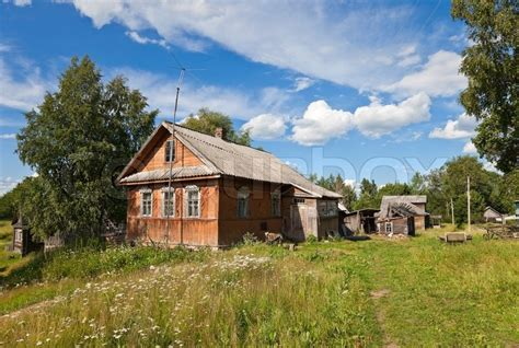 old wooden house in russian village stock photo colourbox old wooden house in russian village stock photo colourbox
