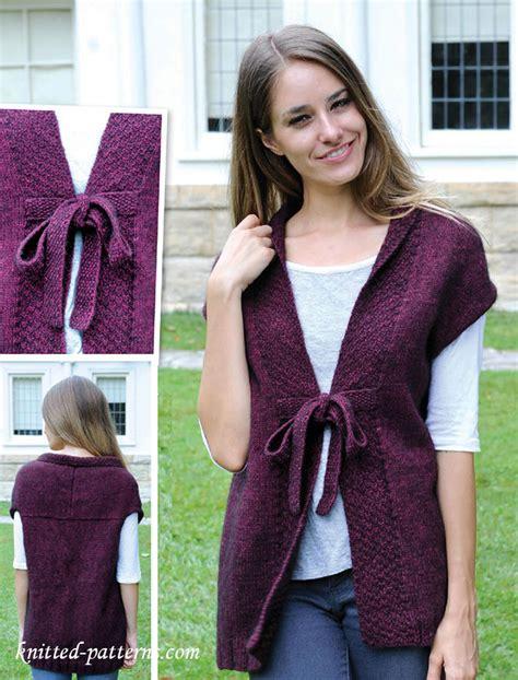 knitting pattern womens vest women s vest knitting pattern