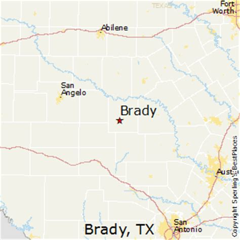 brady texas map best places to live in brady texas