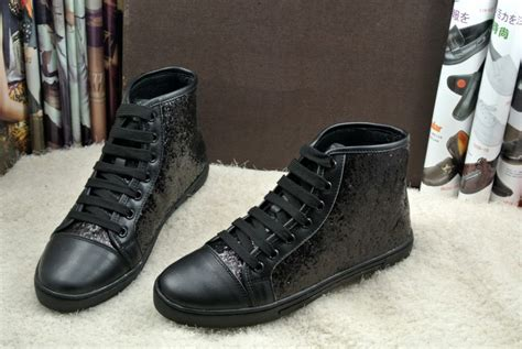 womens high top fashion sneakers sale black sequine high top fashion casual lace