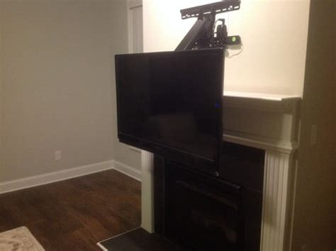 fireplace drop tv mount