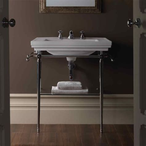 bathroom console sink metal legs pinterest the world s catalog of ideas