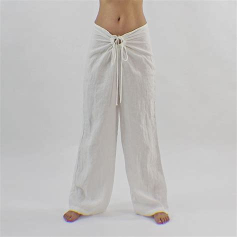 Comfy Linen Celana Tm523 casual soft linen lounge with drawstring trousers and linen