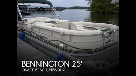 tritoon boats for sale missouri sold used 2001 bennington 2575 rl tritoon in osage beach