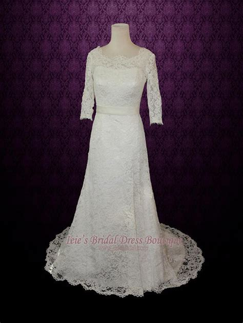 modest lace wedding dresses with sleeves vintage modest lace wedding dresss with long sleeves