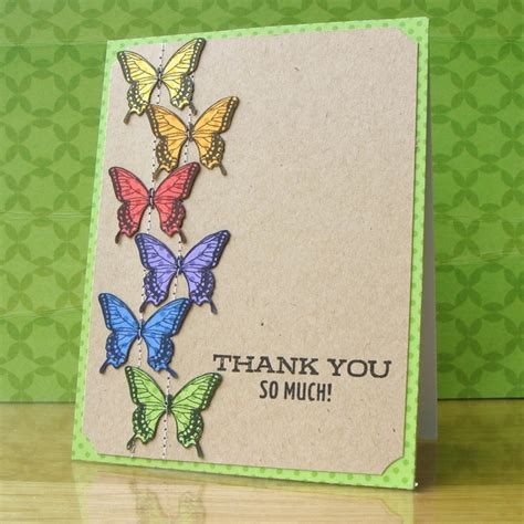 Thank You Handmade Cards - 17 best images about handmade thank you cards on