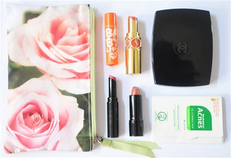 Baguss Bangett Chanel 2way Clutch the curly journal what s inside my mini makeup pouch 2
