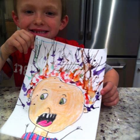 lesson plan for teaching how to blowdry hair crazy hair painting for kids