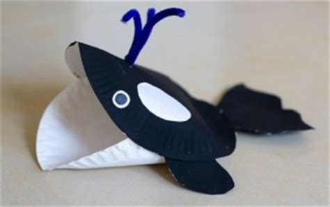 Paper Plate Whale Craft - paper plate sea animal crafts crafts and worksheets for