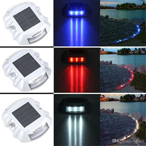 light up driveway markers best solar powered 6led road stud driveway pathway stair