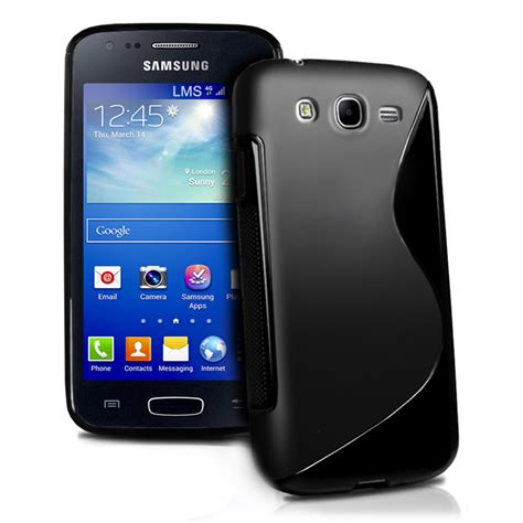 Dus Box Samsung Ace 3 black s line wave gel cover for samsung galaxy ace 3 s7272 screen protect ebay