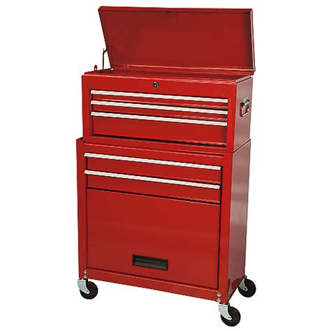 Tool Cabinet With Wheels Homcom Tool Cabinet Chest Cart Tool Cabinet With Wheels