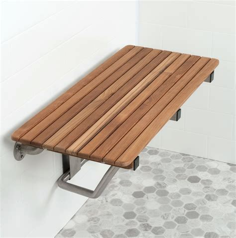 flip down shower bench fold down teak shower bench home design ideas