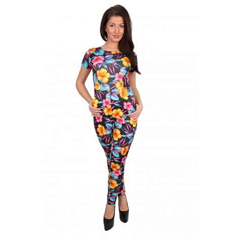 flower pattern jumpsuit black multi coloured floral jumpsuit from parisia fashion