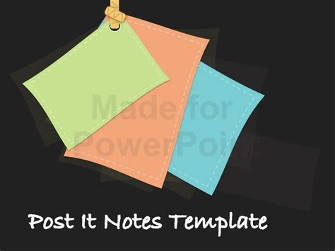 post it template post it notes template for powerpoint presentations