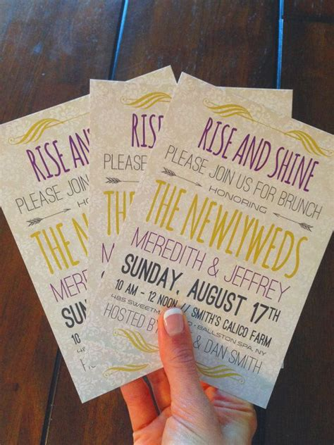 discounted post wedding brunch invitation postcards