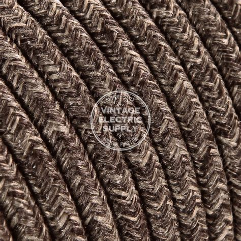 fabric covered l wire brown linen round cloth covered electrical wire braided