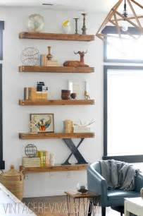 Living Room Shelves by Diy Built In Shelving Living Room Makeover Vintage