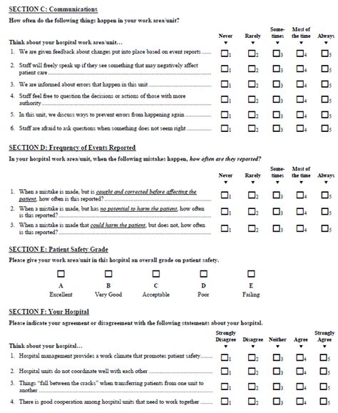 safety survey template tool 1a hospital survey on patient safety culture