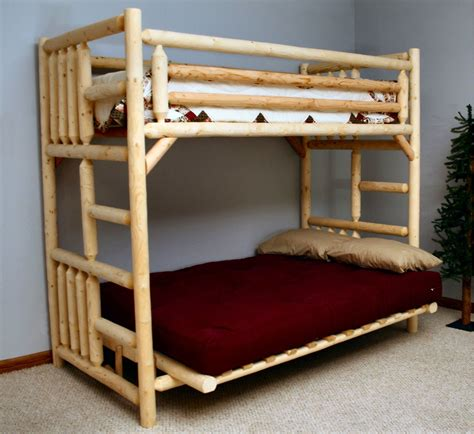 Wooden Bunk Beds With Futon Bunk Bed With Futon And Desk Loft Beds For Adults That Maximize The Bedroom Space Home Decor