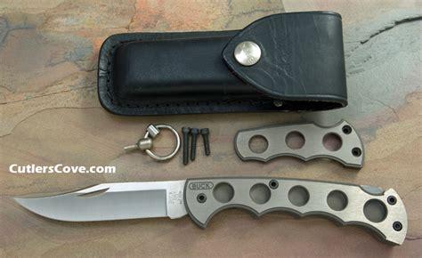buck titanium knife buck titanium model 186 folding mint with original