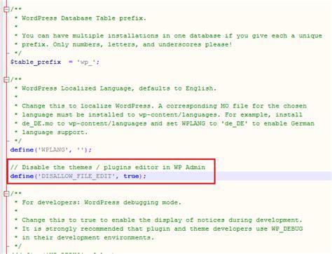 wordpress theme editor disable disable wordpress themes plugins text editor blogger