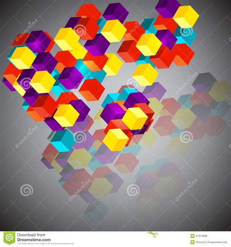 abstract background with 3d cubes royalty free stock