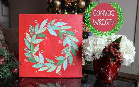 christmas canvas painting ideas christmas decore minute diy christmas decor canvas art wreath youtube